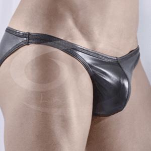Tanga Descaderada Imitación Cuero pretina delgada T231
